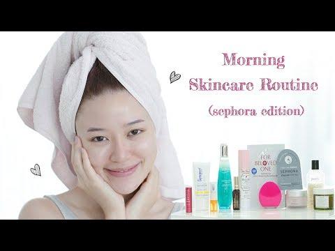 LIFESTYLE || Nina's Morning Skincare Routine (sephora edition) || NinaBeautyWorld - วันที่ 08 Feb 2018