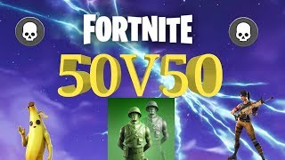 Fortnite: 50v50 - Our Team Gets Destroyed With 29 Enemy's Left