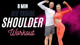 8 dakikada SADECE DUMBBELL İLE OMUZ ANTRENMANI | HER GÜN BİR BÖLGE #1 | 8min Shoulders Workout