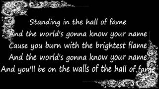 The Script - Hall Of Fame Ft. Will.i.am (Lyrics On Screen) HD