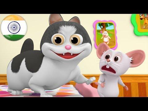 Meow Meow Billi Karti | म्याऊँ म्याऊँ | Hindi Poems | Hindi Balgeet Songs | Little Treehouse