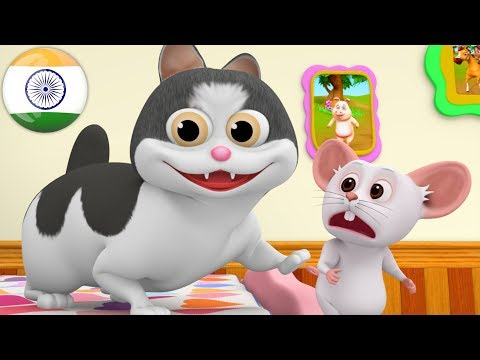 Meow Meow Billi Karti | म्याऊँ म्याऊँ | Hindi Poems | Hindi Balgeet Songs | Little Treehouse