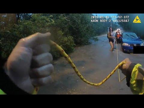 Rescatadas tres mujeres y un perro de las inundaciones de Austin, Texas