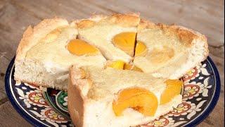 Пирог с персиками #пирог #пирогсперсиками #персиковыйпирог