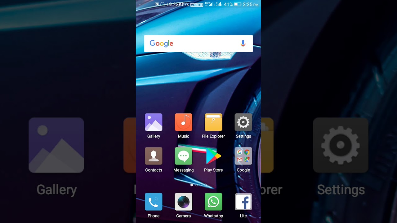 How to unhide Your gallery and other private space in Gionee F103 Pro