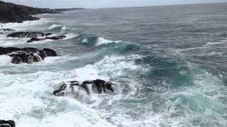 제주금호리즈트 앞 큰엉 바위 해변 풍경