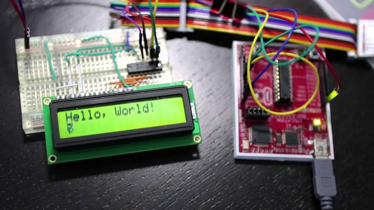 MSP430 i2c slave LCD  - YouTube