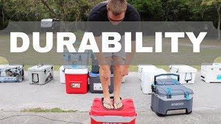 Budget Cooler Durability Test - How Much Weight Can The Lid Hold?