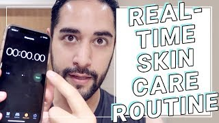 How Long My Skincare Routine REALLY Takes. Real-time, Non-edited Skincare routine ✖ James Welsh