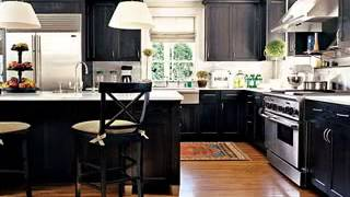 Black Kitchen Cabinet Design Decorating Ideas