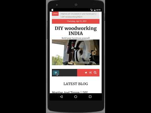 DIY woodworking INDIA - android app demo