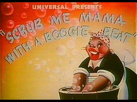 Scrub Me Mama With A Boogie Beat (1941) | Banned Cartoon