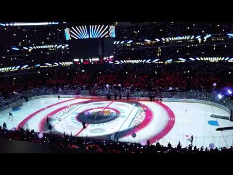 Blackhawks 2015 light show!!!