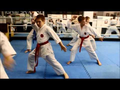 Funakoshi World Champions at practice
