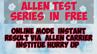 Allen modules for neet 2019
