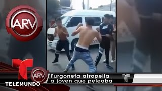 Pelea callejera en México termina en atropello | Al Rojo Vivo | Telemundo