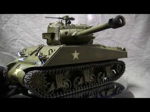 1/16 RC M4(90) Sherman / pershing hybrid prototype tank part 1 of 3
