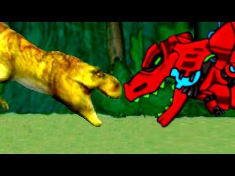Dino Dan and Dino Robot - Мультфильм игры для детей Сборка скелет динозавра #10