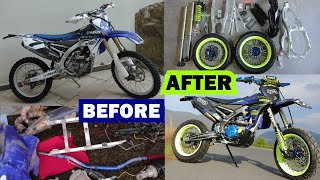 Amazing Supermoto Transformation YZ450F!! (Timelapse Video)