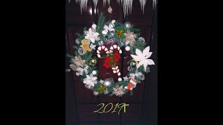 Новогодний стол 2020.Новогодний декор своими руками.Венок.Праздничный стол.салат крыса
