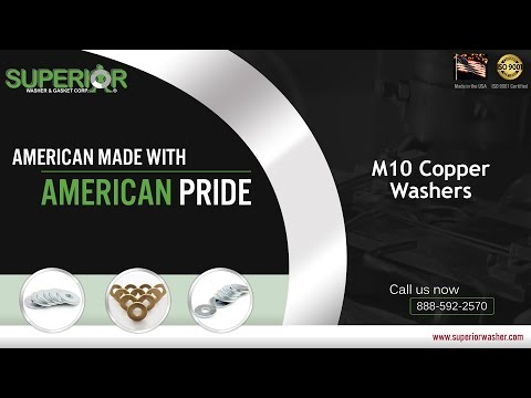 M10 Copper Washers From Superior Washer & Gasket Corp.