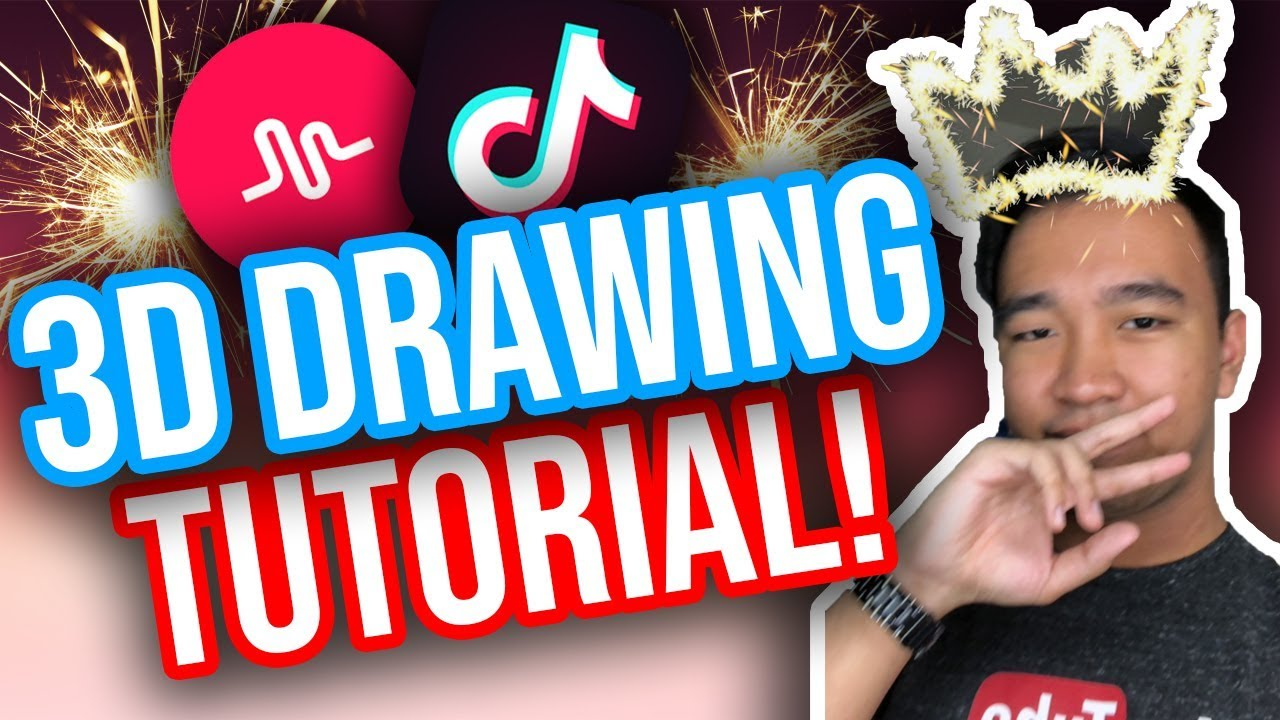 3D DRAWING TUTORIAL FOR TIK TOK! (iOS & Android) *NEW*
