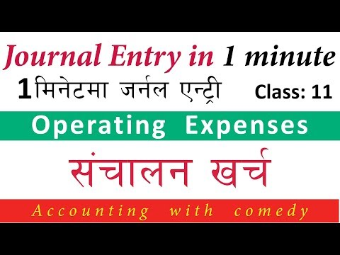 संचालन खर्च || Operating Expenses || Office Expenses || S&D Expenses || Financial Account