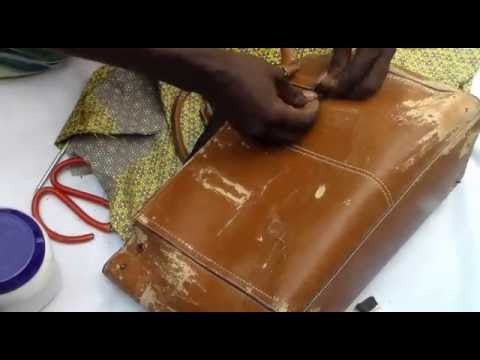 Download how to cover bag with ankara(fabric)