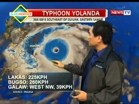 PAGASA: Bagyong Yolanda, pinakamalakas na bagyo sa buong mundo ngayong 2013