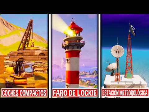 BAILA EN COCHES COMPACTADOS, EL FARO DE LOCKIE Y EN UNA ESTACIÓN METEOROLÓGICA