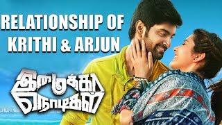 Imaikkaa Nodigal - Relationship of Krithi & Arjun | Atharvaa, Raashi Kanna