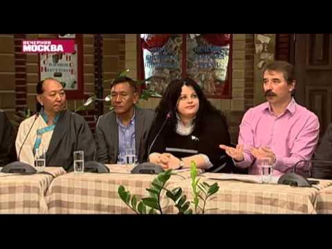 Тибетцы России в прямом эфире. Tibetans live broadcast on Russian TV.