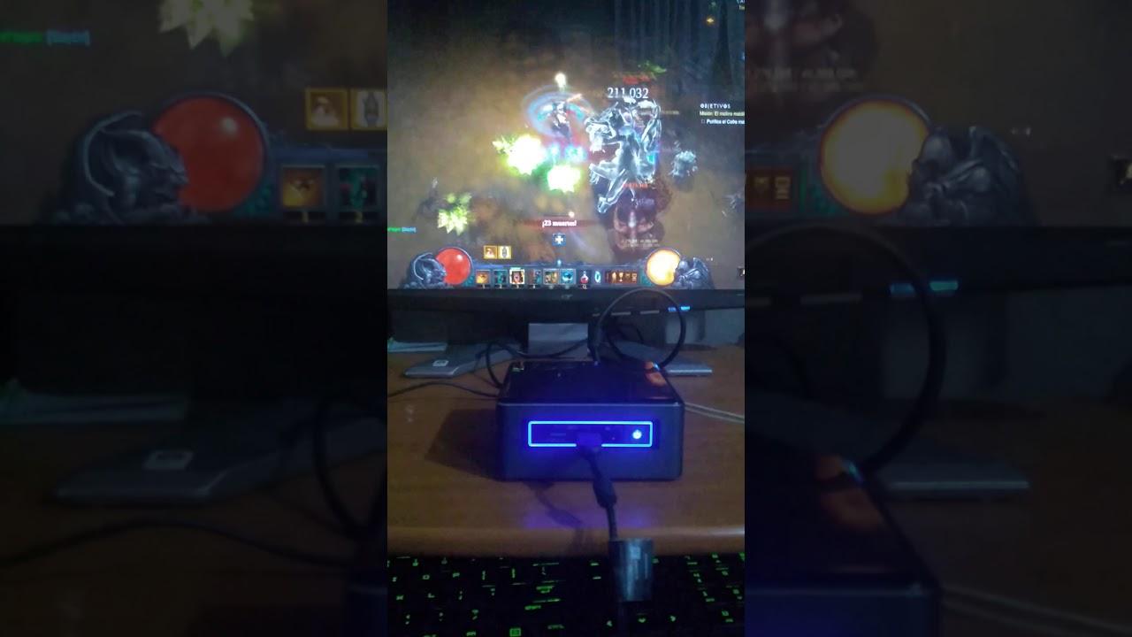 Intel nuc nuc7i3bnh gaming diablo 3