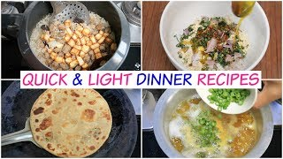 3 Quick & Light Dinner Recipes | Paneer Pulav, Sattu Parantha, Moong Dal | CookWithNisha