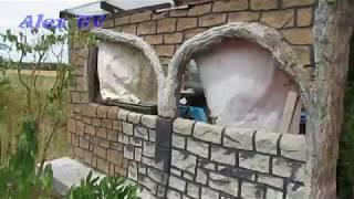 Steinoptik aus Beton im Garten selber machen . Günstig .