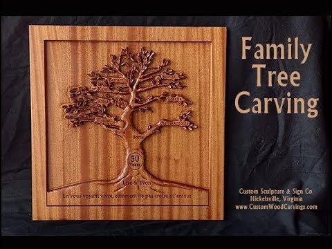 Custom Family Tree Carving - Custom Sculpture & Sign Co.