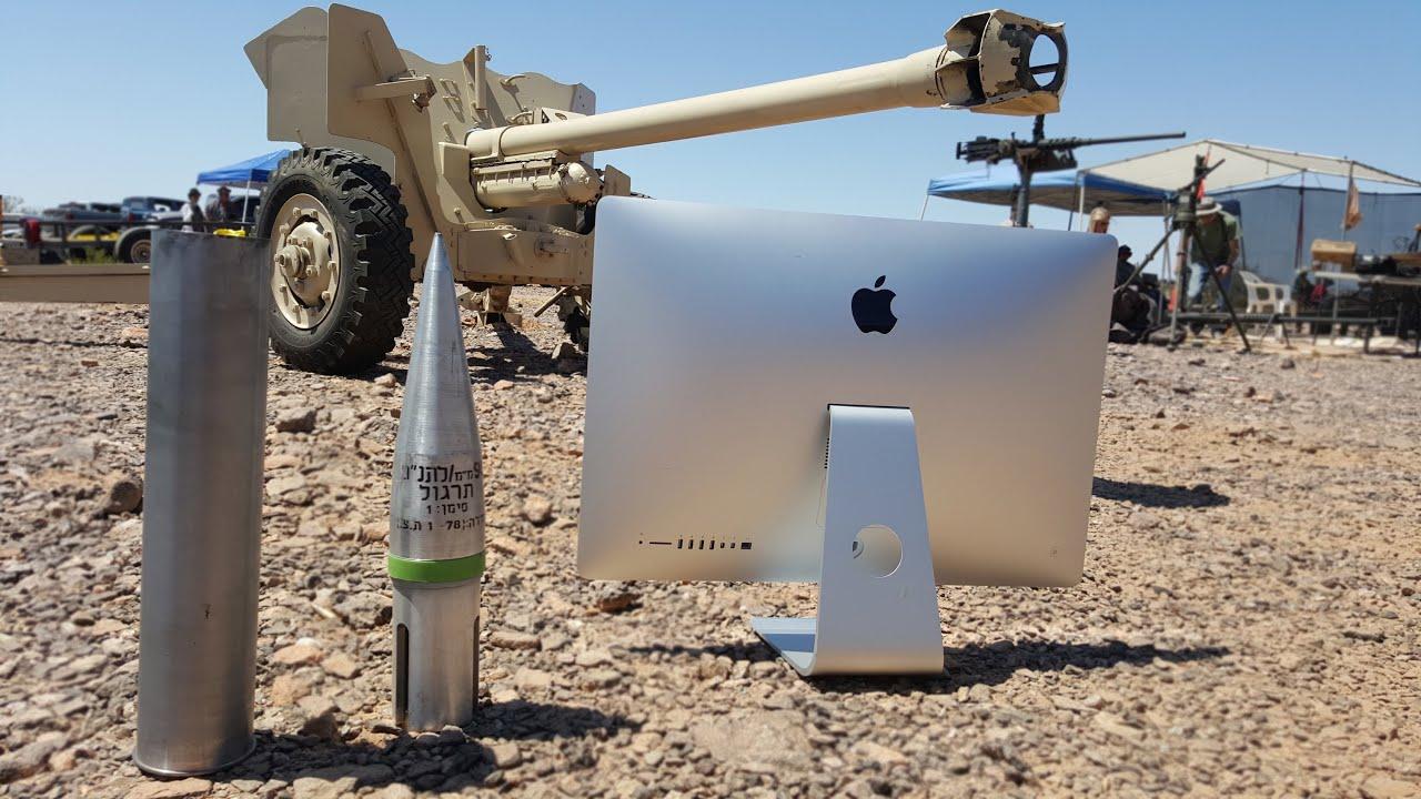 Cosa succende se spari con un cannone da 90mm Vs iMac