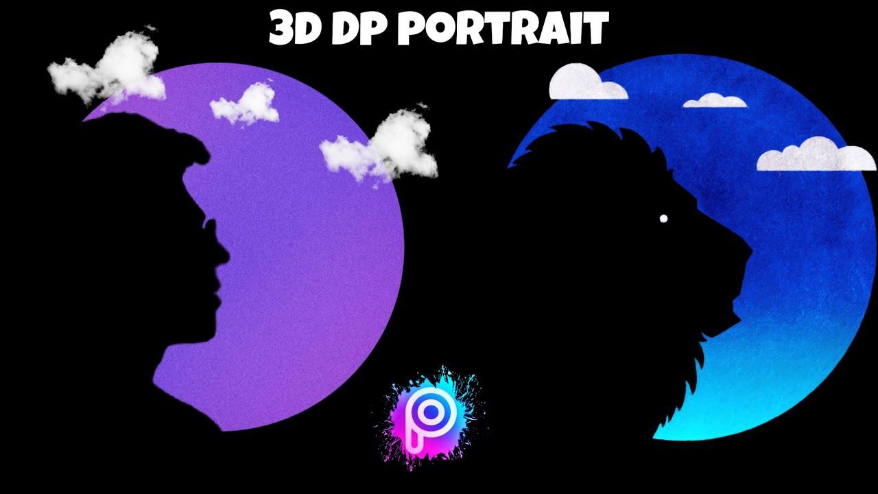 Black Shadow - 3d Dp Portrait Photo Editing Tutorial || Picsart Dp Editing Tutorial