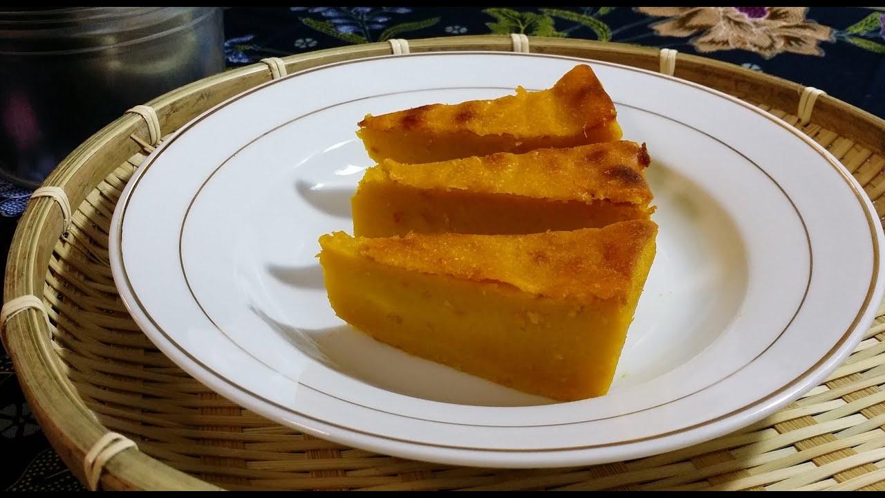 Kuih Labu Bakar Pumpkin Cake Youtube