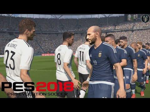 PES 2018 PC - Germania vs Argentina (1080p/60FPS)