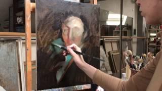 Как рисовать портрет маслом. Свободная копия