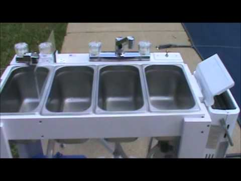 Portable Concession Sink for Moble Food Vendors  YouTube