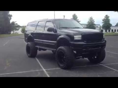 Ford Excursion Blacked Out >> Lifted ford excursion all black - YouTube