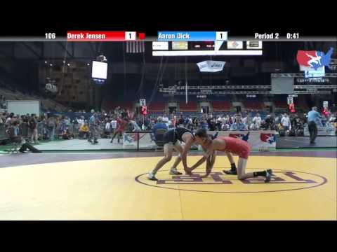 Fargo 2012 106 Round 2: Derek Jensen (Utah) vs. Aaron Dick (Minnesota)