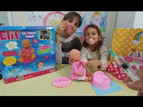 Elif bebek çiş yapıyor eğlenceli çocuk videosu toys unboxing