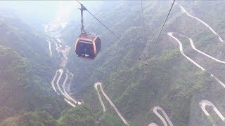 Tianmen Mountain Cableway in Zhangjiajie China 天門山