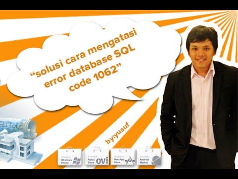 SOLUSI ERROR code 1062 PADA SAAT IMPORT DATABASE MYSQL