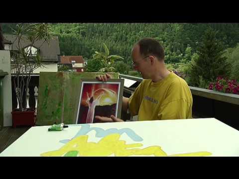 Norbert malt große Bilder