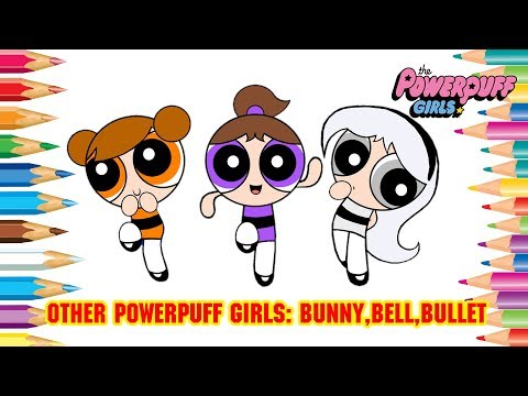 How to Draw Other Powerpuff Girls | The Strongershine Girls Character : Bunny, Bell, Bullet #473