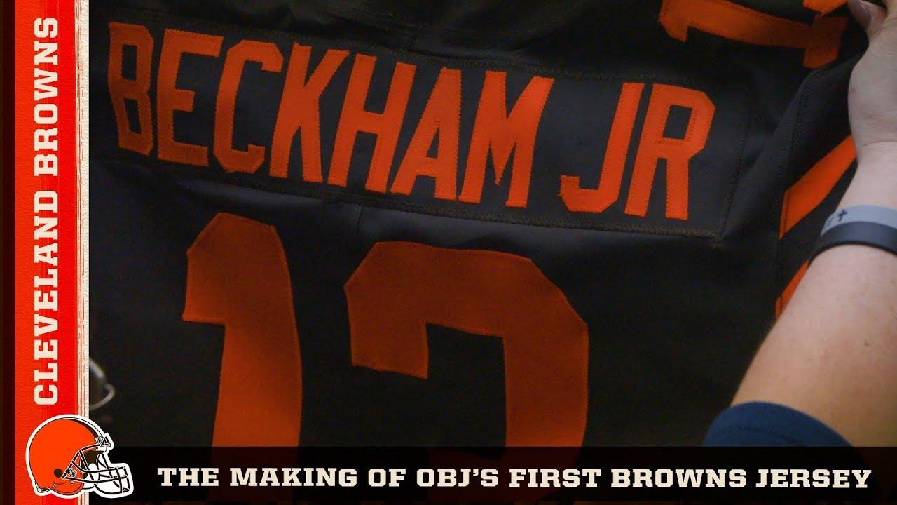 finest selection 3dbab 4c42a Making Odell Beckham Jr.'s Game Jersey   Cleveland Browns